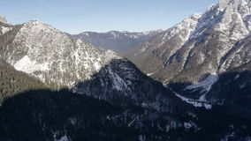 AERIAL: Late afternoon in the Julian Alps stock video footage