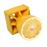 Aerial lemon bomb. Aerial lemon air bomb concept Stock Photography