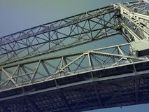 Aerial Lift Bridge. In Duluth MN Canal Park Royalty Free Stock Image
