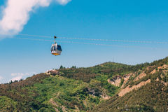 Aerial Lift Cableway In Tbilisi, Georgia. Blue Sky In Summer Day Stock Photography