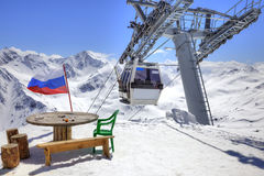 Aerial lift on Elbrus Royalty Free Stock Image