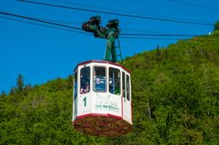 Aerial lift to the top of Burgberg mountain stock image