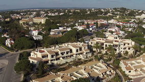 Aerial from Lighthouse and natural rocks at Lagos Portugal stock video