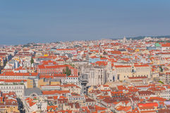 Aerial Lisbon. Lisbon View From Saint George Castle, Portugal Stock Image