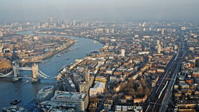 Aerial of London Cityscape with the view from the shard stock video