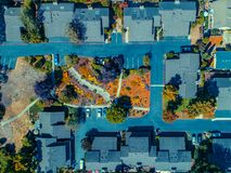 Aerial: Community Garden Space stock photography