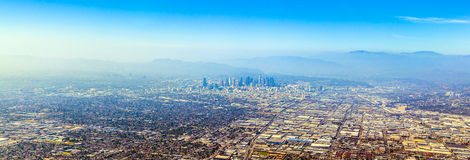 Aerial of Los Angeles Royalty Free Stock Image