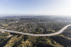 Aerial Los Angeles California Eagle Rock Neighborhood Royalty Free Stock Photography