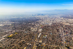 Aerial of Los Angeles Royalty Free Stock Photography