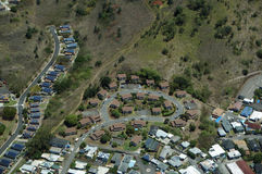 Aerial of luxury residential town Stock Image
