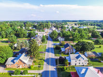 Aerial of Main Street Area in Shrewsbury, Pennsylvania Stock Photos