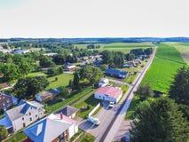 Aerial of Main Street Area in Shrewsbury, Pennsylvania Stock Photography