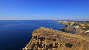 AERIAL. Majestic Fiolent Cape In Crimea stock footage