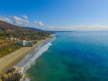 Aerial Malibu View. Morning in Malibu beach California Royalty Free Stock Images