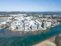 Maroochydore Aerial City Beach front royalty free stock images