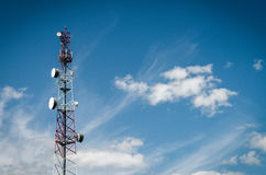 Aerial mast Royalty Free Stock Photography