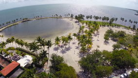 Aerial Matheson Hammock Park stock video footage