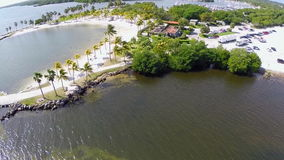 Aerial Matheson Hammock Park stock video