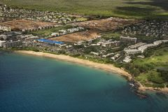 Aerial of Maui coast. Stock Photography