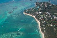 Aerial Mauritius stock image