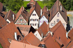 Aerial of medieval city Dinkelsbuehl in Germany Royalty Free Stock Photos