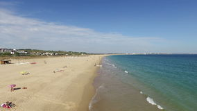 Aerial at Meia Praia in Lagos Portugal stock video