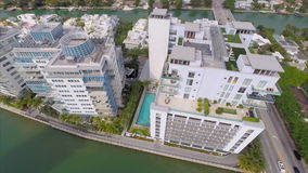 Aerial Miami architecture stock footage