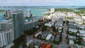 Aerial Miami Beach Alton Road stock video