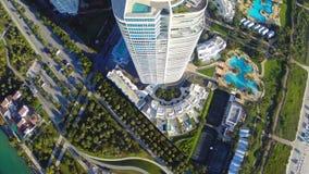 Aerial Miami Beach condominium Continuum stock video footage