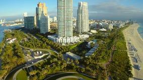 Aerial Miami Beach condominium Continuum stock footage