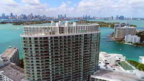 Aerial Miami Beach drone video footage stock video footage