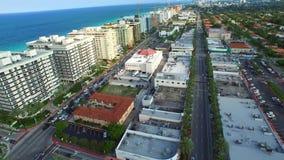 Aerial Miami Beach Florida stock video