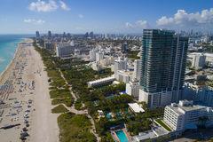 Aerial Miami Beach Florida Royalty Free Stock Images