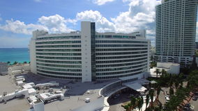 Aerial Miami Beach Fontainebleau stock video footage