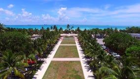 Aerial Miami Beach 4k stock video