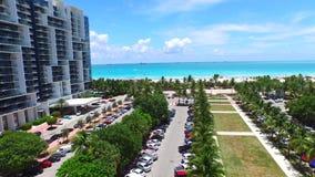 Aerial Miami Beach 4k 3 stock video footage