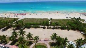 Aerial Miami Beach 4k 4 stock footage