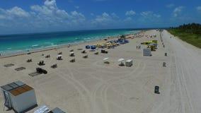 Aerial Miami Beach 4k. 4k video of Miami Beach FL USA stock footage