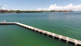 Aerial Miami Beach Marina stock video footage