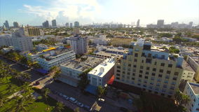 Aerial Miami Beach ocean drive Royalty Free Stock Photos