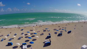 Aerial Miami Beach stock footage