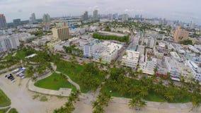 Aerial Miami Beach video 4k uhd. Aerial 4k uhd video of South Beach Miami FL stock footage