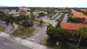 Aerial Miami Dade public school flyover stock footage