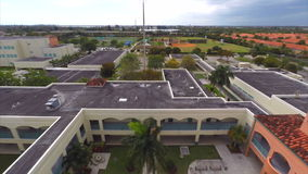 Aerial Miami Dade public school stock video