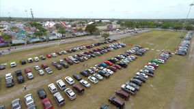 Aerial Miami Dade Youth Fair stock video footage