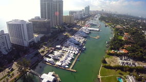 Aerial Miami International Boat Show Royalty Free Stock Photography