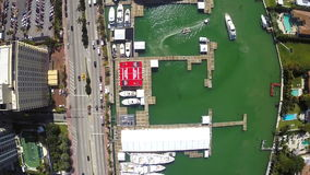 Aerial Miami International Boat Show Stock Photos