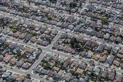 Aerial of Middle Class Neighborhood near Oakland California Royalty Free Stock Photos