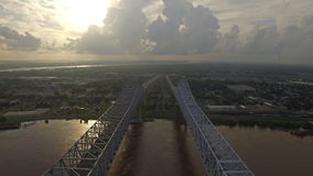 Aerial Mississippi New Orleans stock video