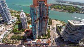 Aerial Modern Miami Beach condos Stock Photos